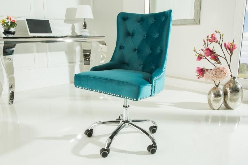Cel mai confortabil scaun de birou cu catifea